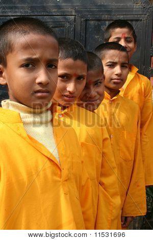 Cheerful Hindu Students