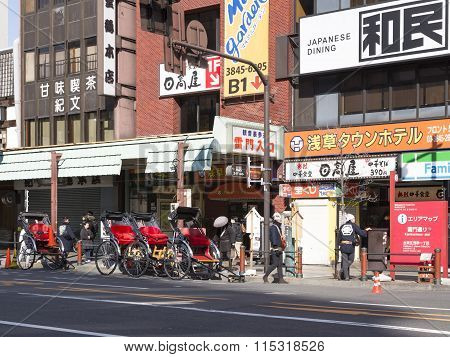Young Pedicabs In Tokyo, Japan