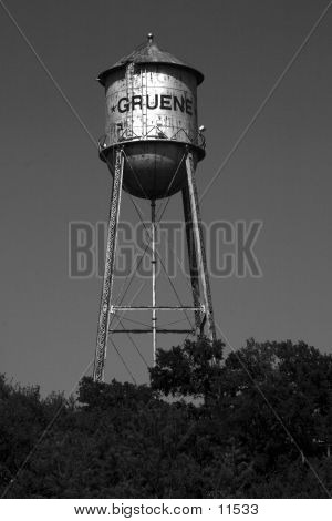 Water tower in the Texas Hill Country of Gruene, Texas poster
