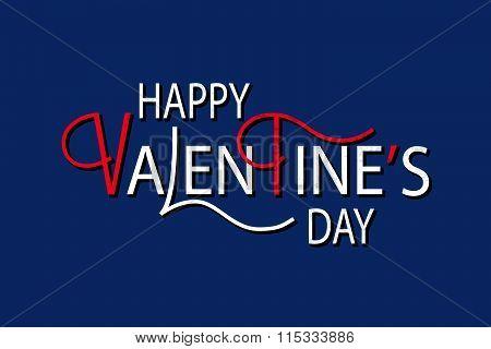 Flat Design Style Happy Valentine's Day Logotype, Badge And Icon.