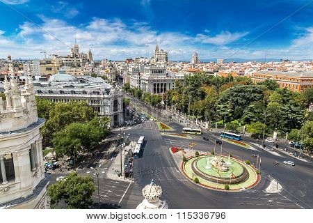 Cibeles Fountain At Plaza De Cibeles In Madrid