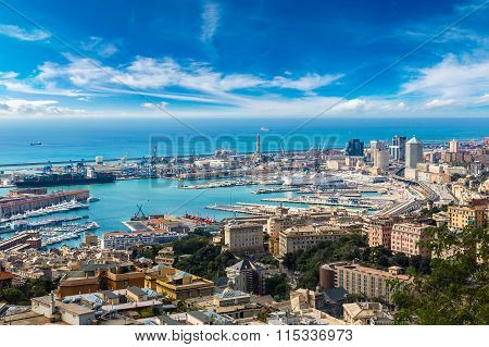 Port Of Genova In Italy