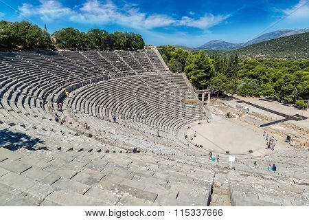 Epidaurus Amphitheater In Greece