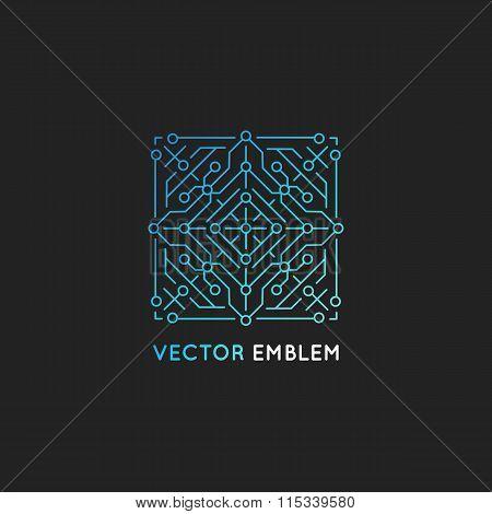 Vector Abstract Technology Logo Design Template