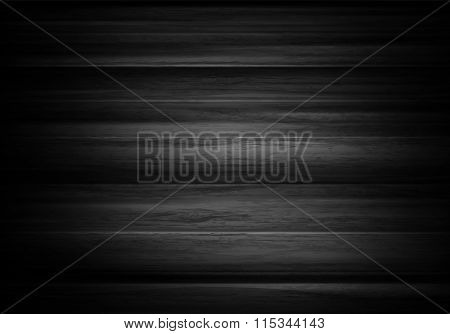Wood Horizontal Background In Vector. Black Background With Text