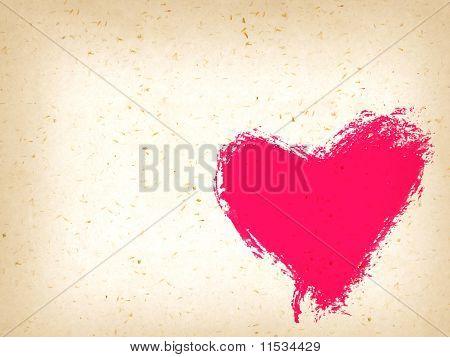 Handmade Heart Background