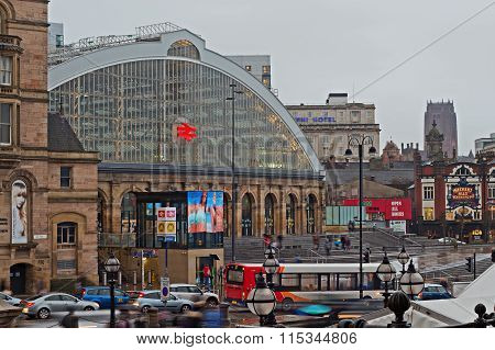 Liverpool 16Th January 2016. Lime Street Station, The Main Rail Link Into The City Of Liverpool