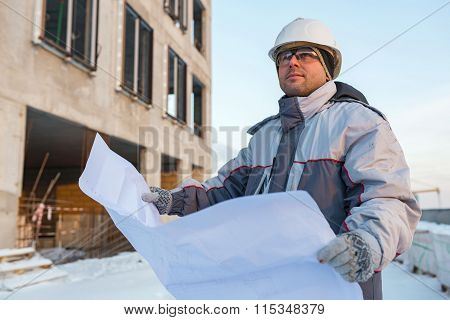 Civil Engineer At Construction Site