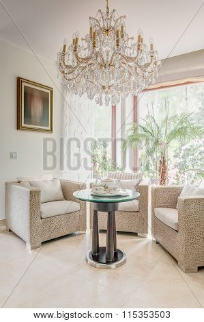 Glossy And Luxurious Coffee Room