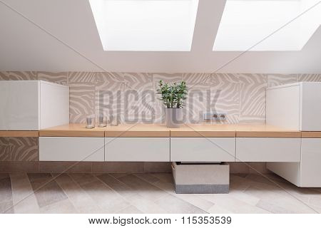 Cabinets In Modern Dressing Room