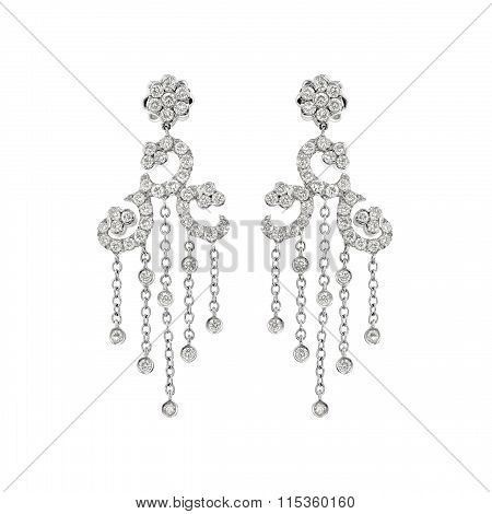 Couple of diamond earrings