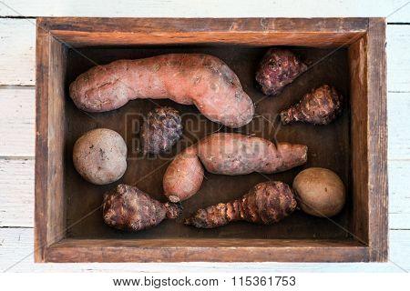 Sweet Potato, Jerusalem Artichoke And Potato