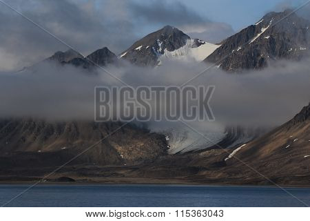 Foggy Coast Of Spitsbergen