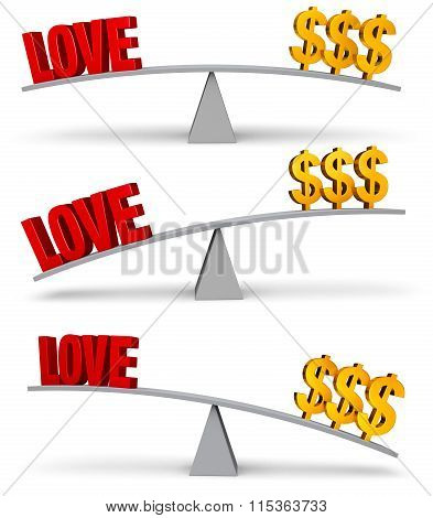 Weighing Love And Money Set