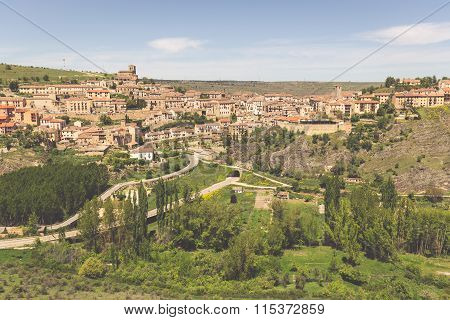 Overview Of Sepulveda, In The Province Of Segovia, Spain