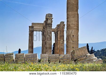 Temple of Olympian Zeus Athens Greece