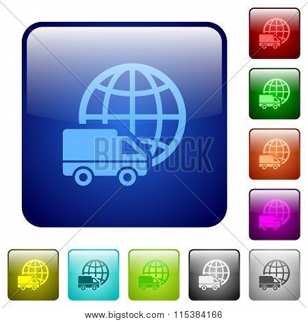 Color International Transport Square Buttons