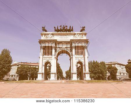 Arco Della Pace, Milan Vintage