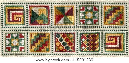 Cross Stitch Quilt Squares