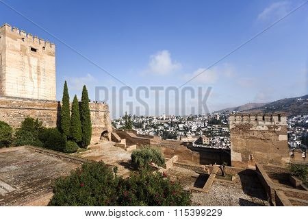 Alhambra Towers And Albaicin District