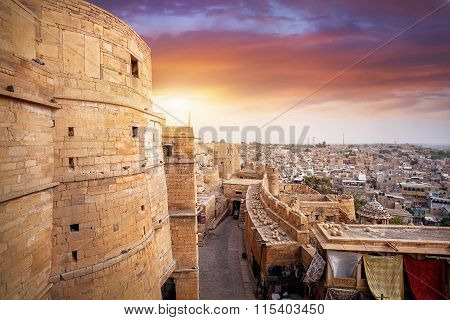 Sunset In Jaisalmer Fort In India