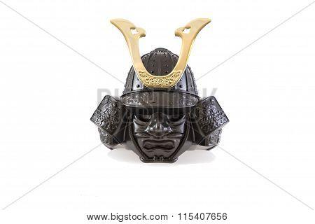 Isolate model desing samurai  armor from japan poster