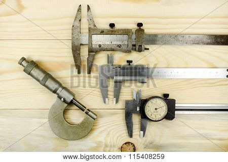 Measuring Tool Caliper And Micrometer