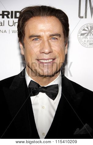 John Travolta at the 13th Annual Living Legends Of Aviation Awards held at the Beverly Hilton Hotel in Beverly Hills, USA on January 22, 2016.