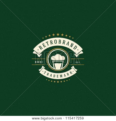 Beer Logo Template. Vector Design Element Vintage Style for Logotype