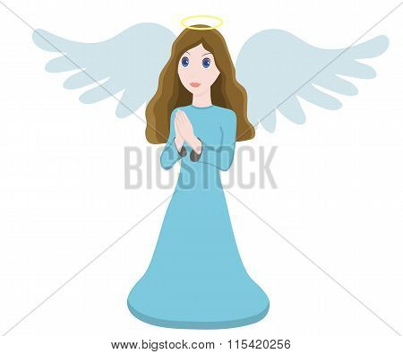 Vector illustration cute angel character