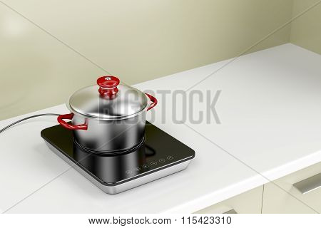 Induction Cooktop And Cooking Pot
