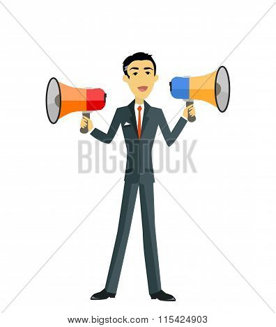 Boss with Megaphone