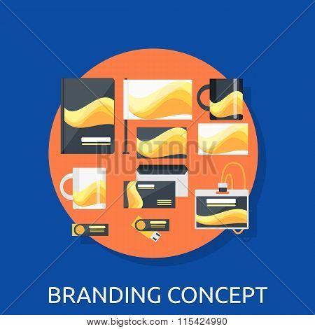 Branding Icon Concept Flat Design