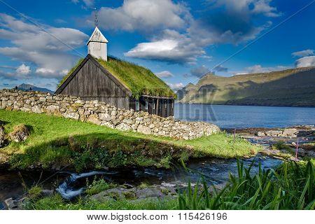 Church in Funningur, Faroe Islands