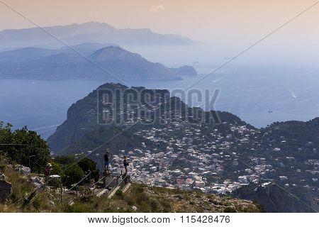 Sunny Postcard Of Capri Island, Italy