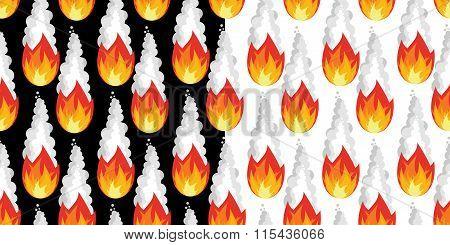 Meteor Shower Seamless Pattern. Falling Meteorite Ornament. Texture Of Fireball. Comet Flies In Nigh