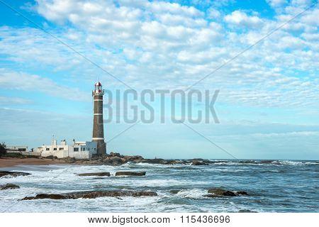Lighthouse In Jose Ignacio Near Punta Del Este, Atlantic Coast, Uruguay