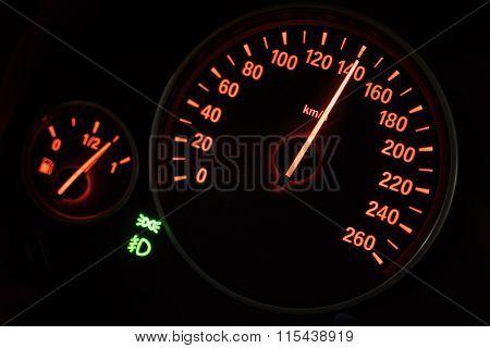 Modern Speedometer In A Car