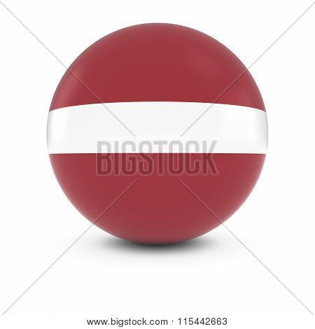 Latvian Flag Ball - Flag of Latvia on Isolated Sphere poster