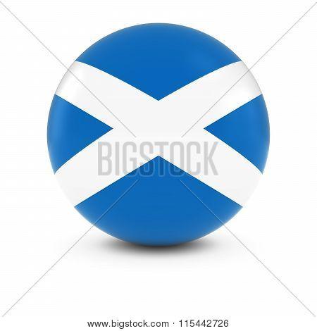 Scottish Flag Ball - Flag Of Scotland On Isolated Sphere