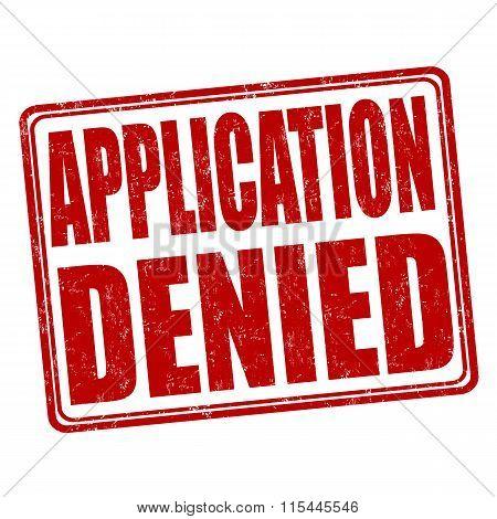 Application Denied Stamp