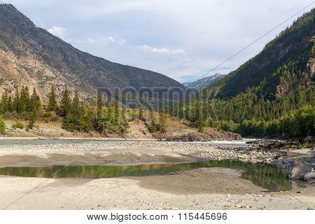 Argut River. Mountain Altai Landscape. Russia.