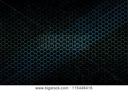 Black, Blue And Green Metallic Mesh Background Texture