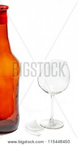bottle and broken glass