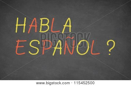 Spanish language learning concept image.