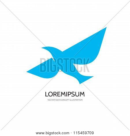 Bird - vector logo concept illustration. Bird logo. Dove logo. Bird icon. Bird sign. Bird symbol.