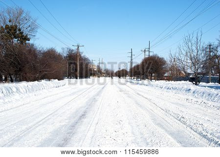 Snow-covered Roads For Cars