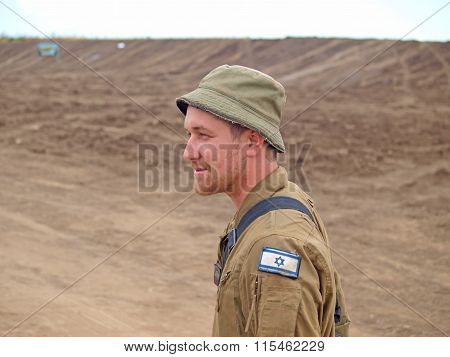 Israeli soldiers in training armored forces in the Golan Heights