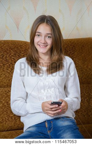 Girl  With Your Mobile Phone