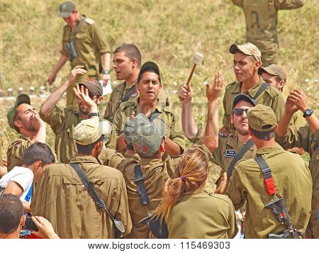 Israeli Soldiers In Training Armored Forces
